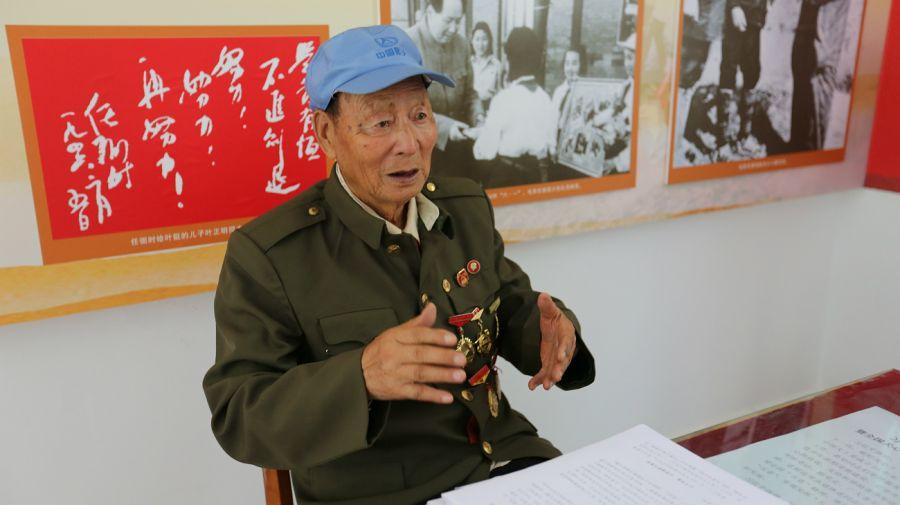 Veterano. Cao Kai tiene 90 años. En los años 30 luchó contra los japoneses y los nacionalistas.