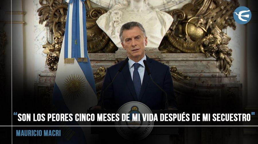 Macri durante su discurso.