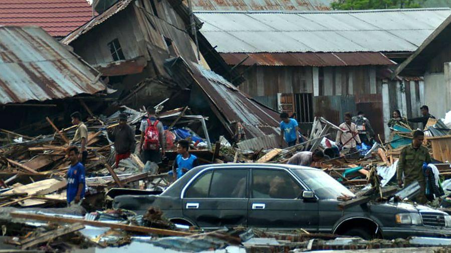 El sector costero de la ciudad de Palu sufrió daños devastadores.