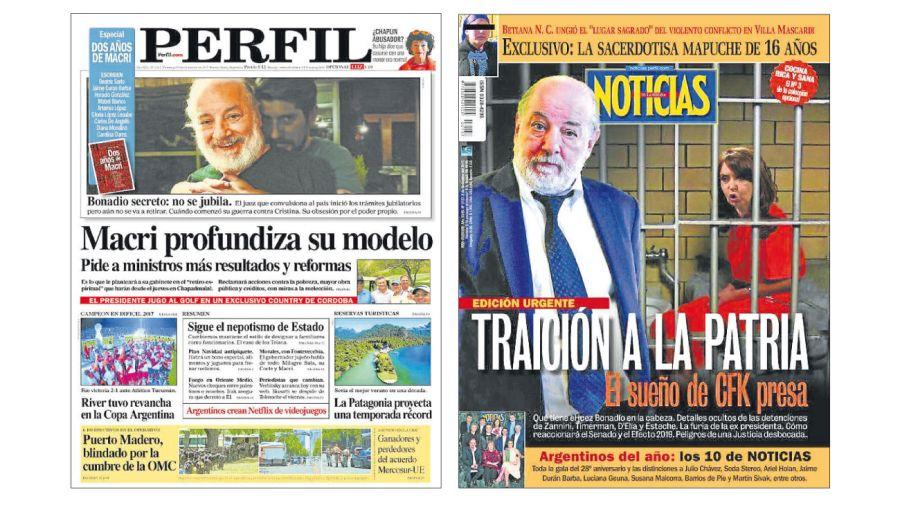 Notas sobre Bonadio en Diario PERFIL y Noticias.