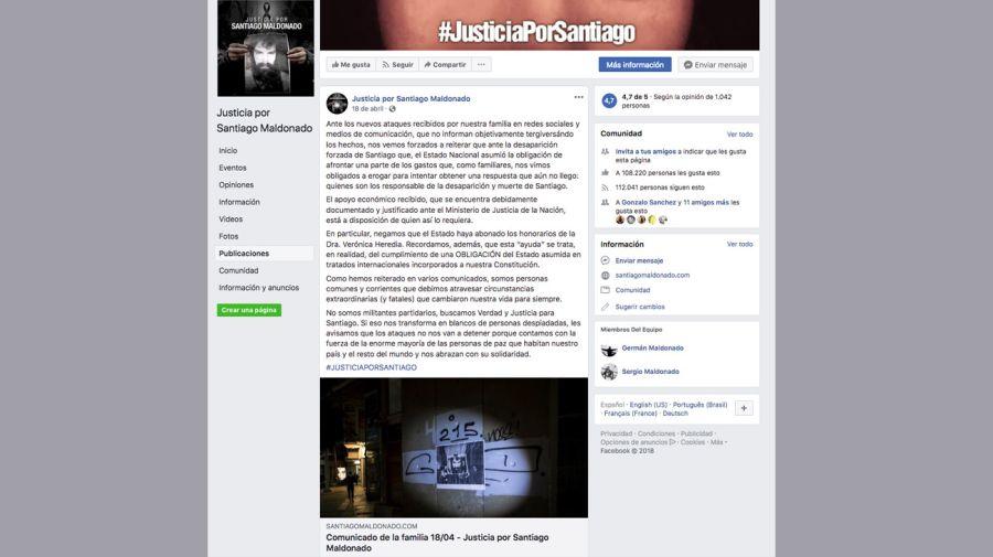 posteo de la familia Maldonado 11072018
