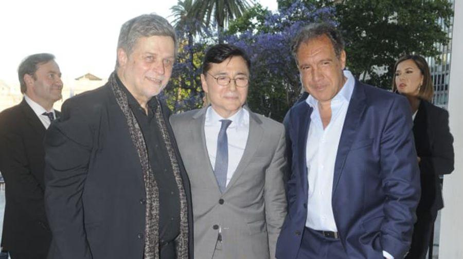 Jorge Fontevecchia, junto a Daniel Hadad.