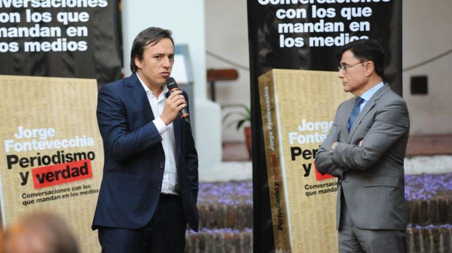 José del Río, durante la presentación del libro.