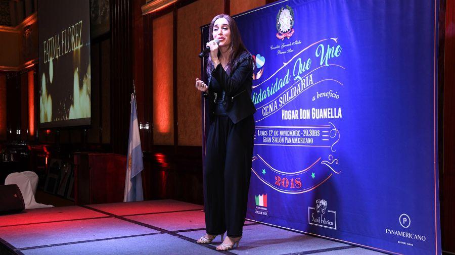 Fátima Flórez, la artista sorpresa de la cena benéfica de este año.
