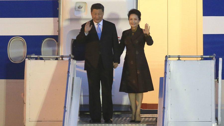 El presidente de la Republica Popular China, Xi Jinping, arriva al Aeropuerto de Ezeiza en el marco de su participacion en la Cumbre del G20.