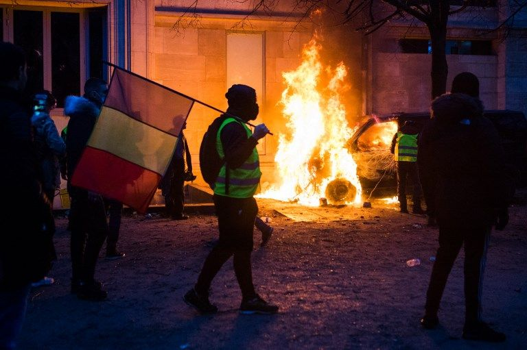 Violentas protestas en París el 1 de diciembre