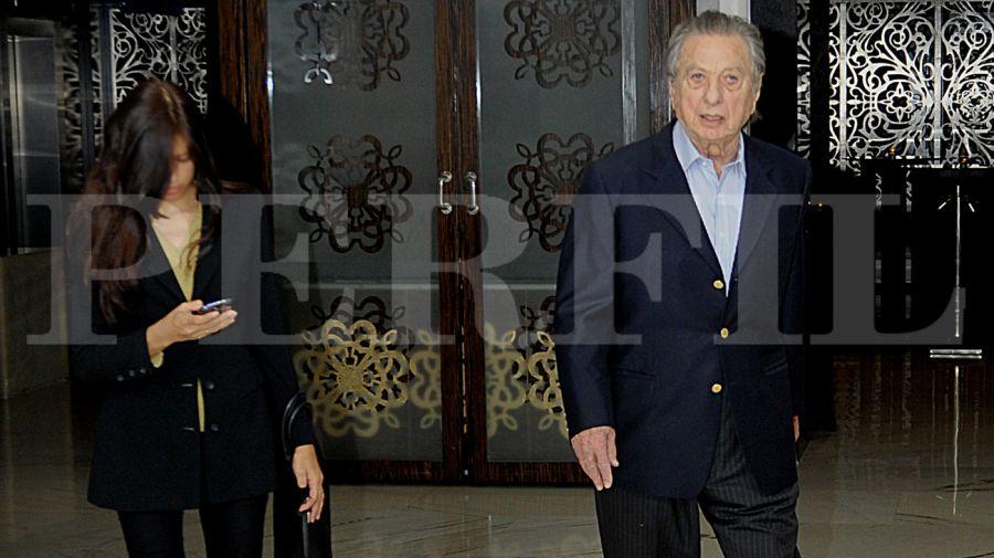 Franco Macri, en una de sus últimas fotos públicas.