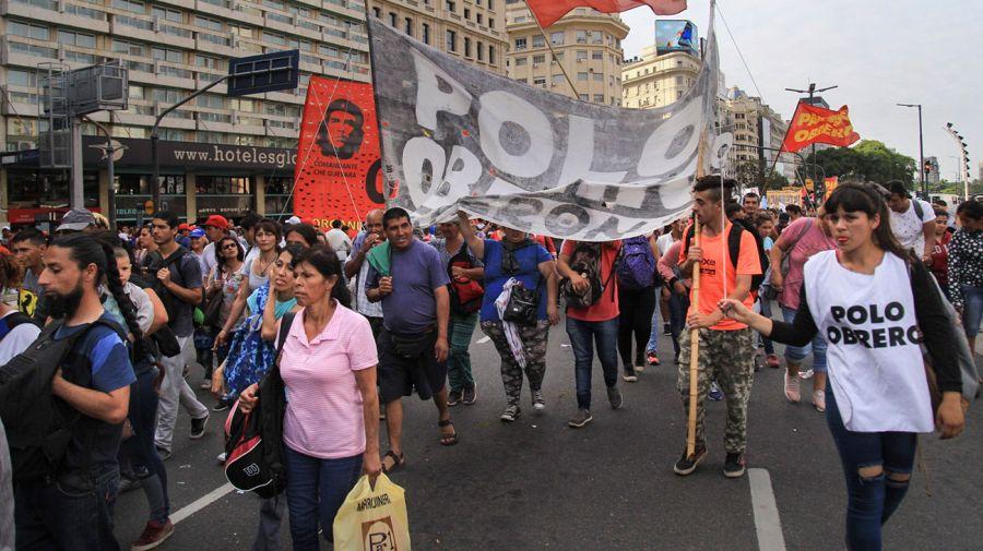 Corte total en Avenida 9 de Julio. Foto: NA.