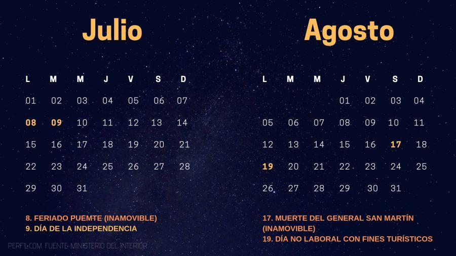 calendario de feriados 2019