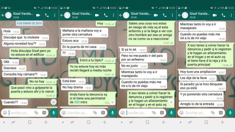 Gisel Varela Policia Femicidio Mar del Plata chats
