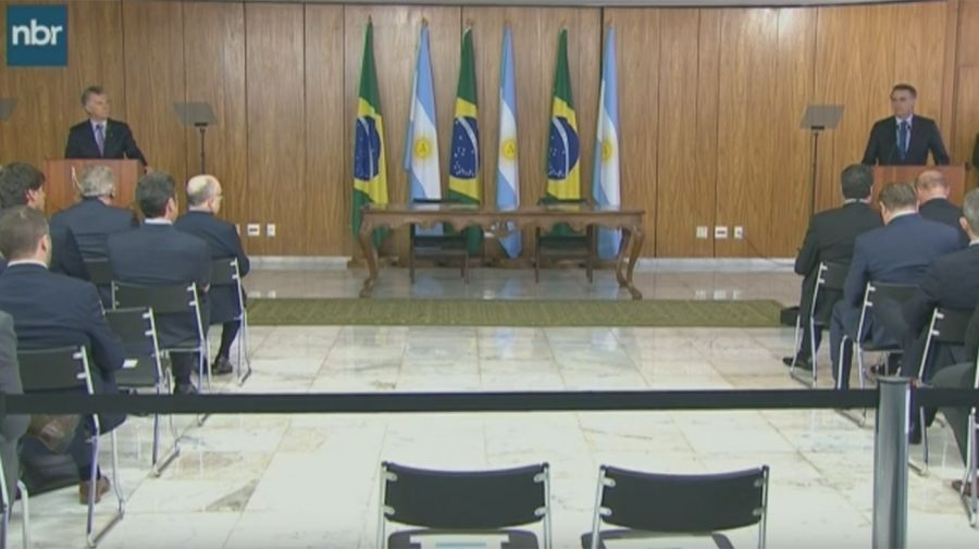 Jair Bolsonaro y Mauricio Macri 01162019