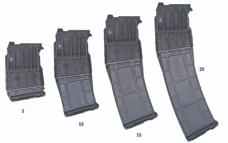 Mossberg 590 M, con capacidad extra large