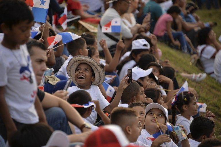 Los panameños le dieron una cálida bienvenida al papa Francisco.