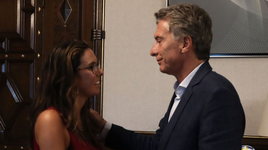 Elisa Trotta Gamus con el presidente Mauricio Macri.