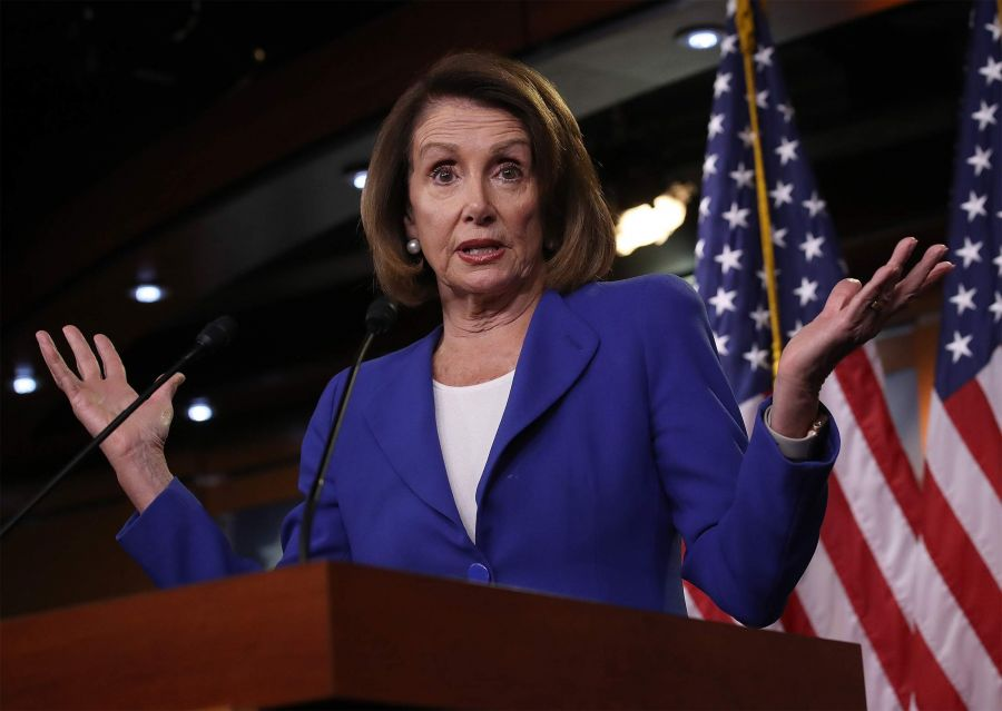 House Speaker Nancy Pelosi Holds Her Weekly Press Conference At The Capitol