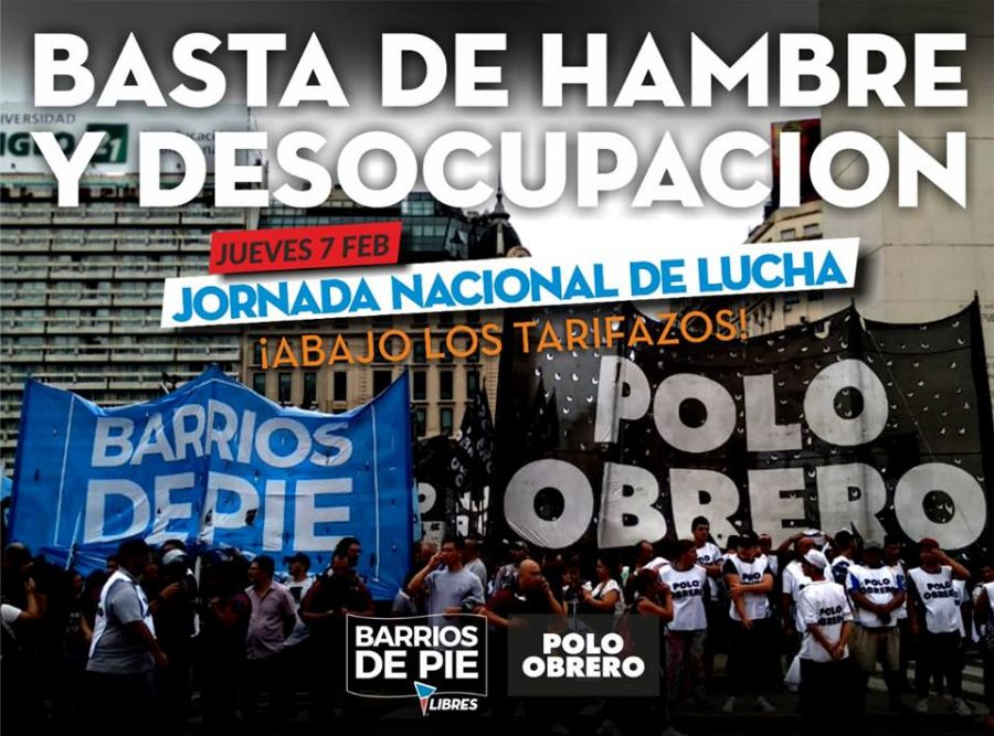 Jornada nacional de protestas.