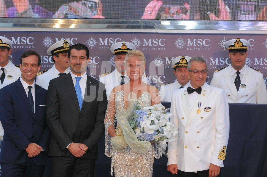 Xuxa, madrina de MSC Seaview.