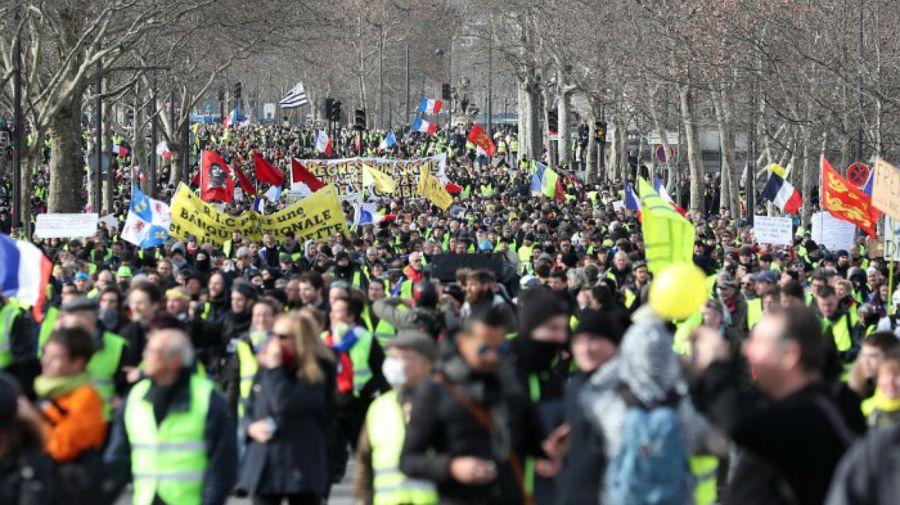 Nueva protesta de los chalecos amarillos en Francia.