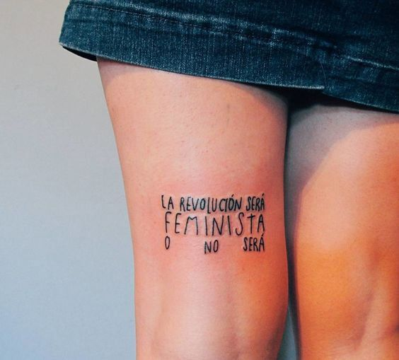 Tatuajes feministas