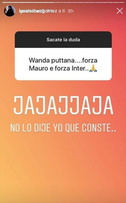 Contra Wanda Nara.