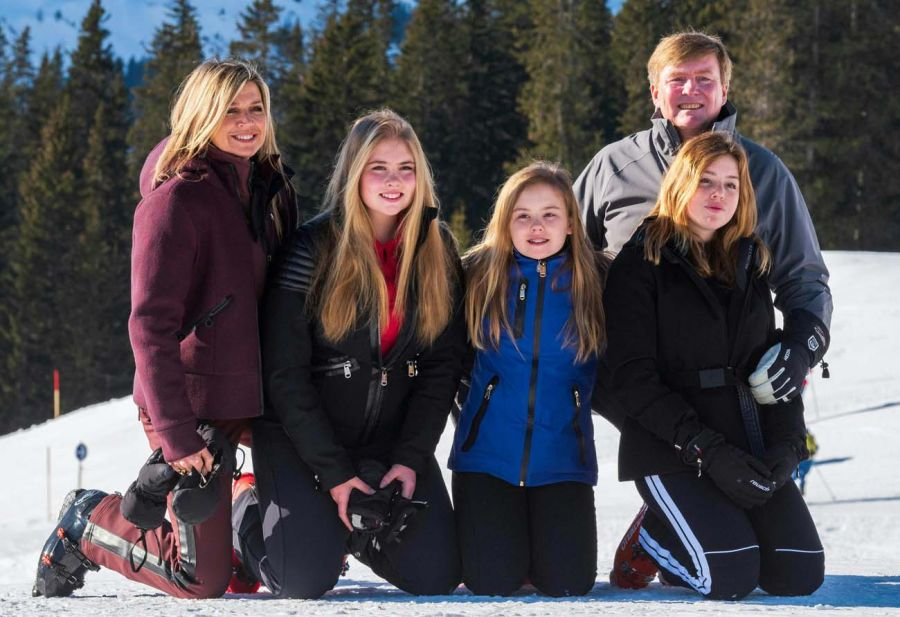 Máxima Zorreguieta y su familia disfrutan del ski
