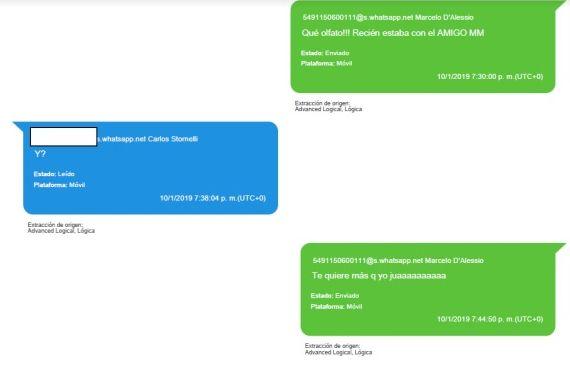 Conversaciones entre Stornelli y D'Alessio agregados a la causa.