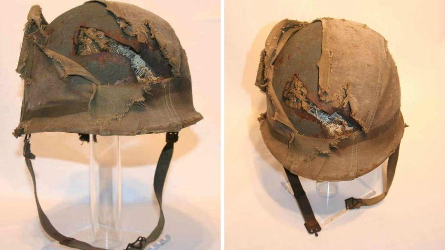 subasta casco soldado malvinas