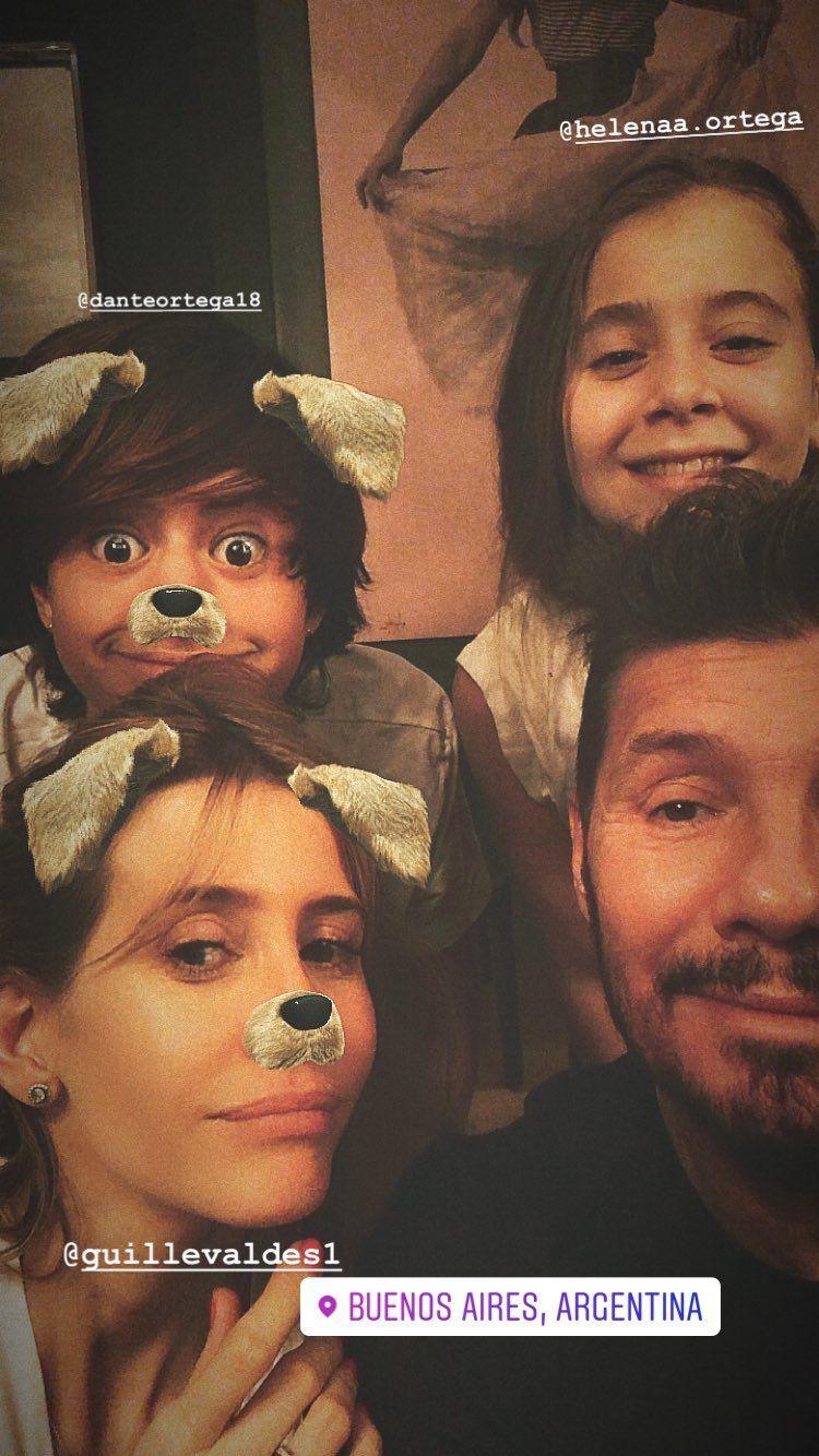 Marcelo Tinelli se sacó una tierna foto con los hijos de Guillermina Valdés