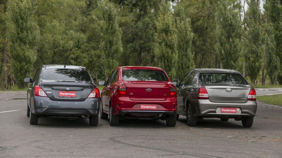 Nissan Versa vs Ford Ka+ vs Toyota Etios sedán