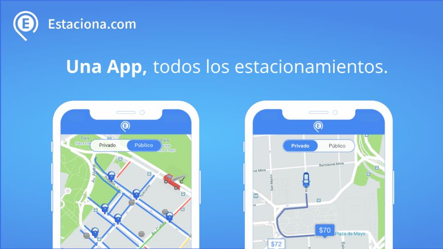 La aplicacion Estaciona.com está disponible para Android o iOS.