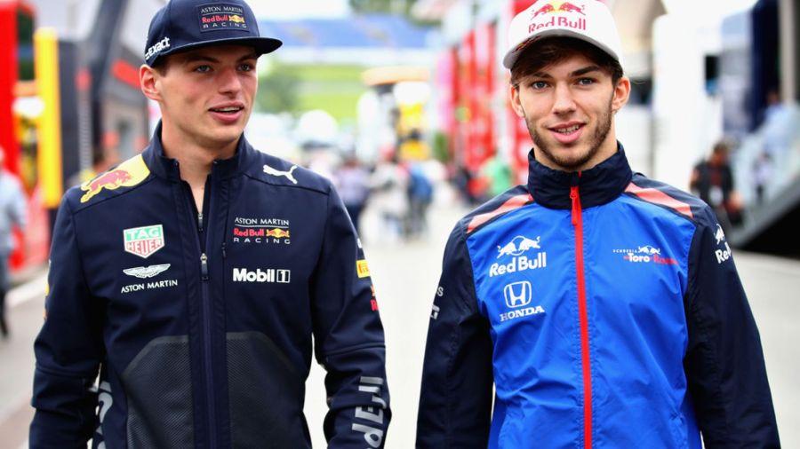 Max Verstappen Pierre Gasly Red Bull F1