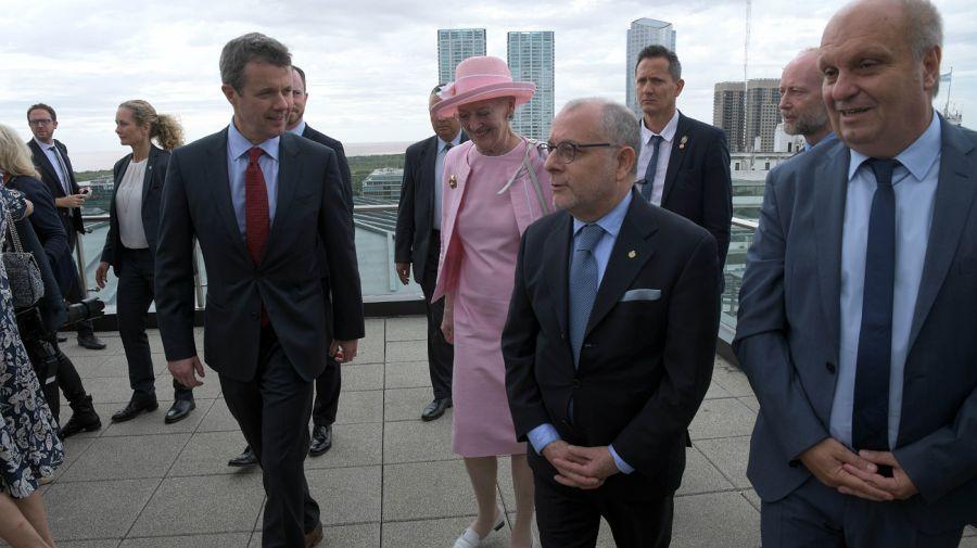 Segunda jornada de la Reina Margarita II de Dinamarca en Argentina.