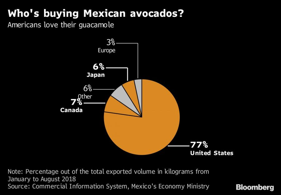 Who's buying Mexican avocados?