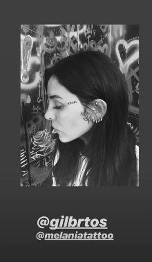 Cande Tinelli se tatuó