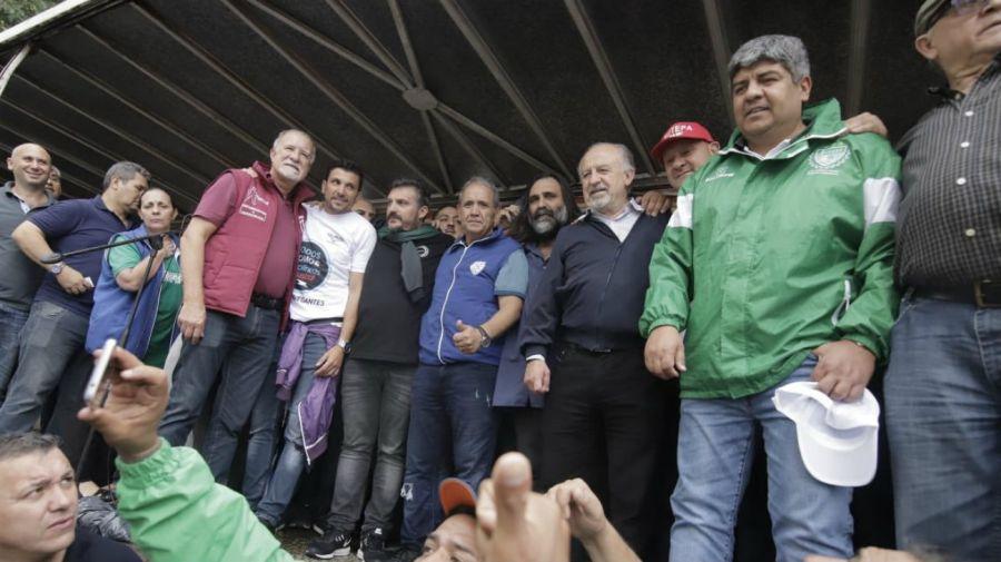 El Frente Sindical se diferenció de la CGT y organizó un acto
