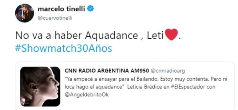 Marcelo Tinelli confirmó que no hay acquadance.