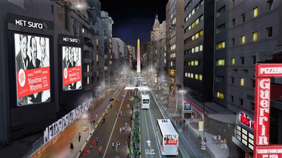 La avenida Corrientes se inaugura luego de 15 meses de obras.