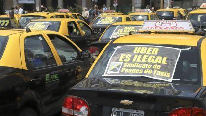 Los taxistas se movilizaron en contra de Uber