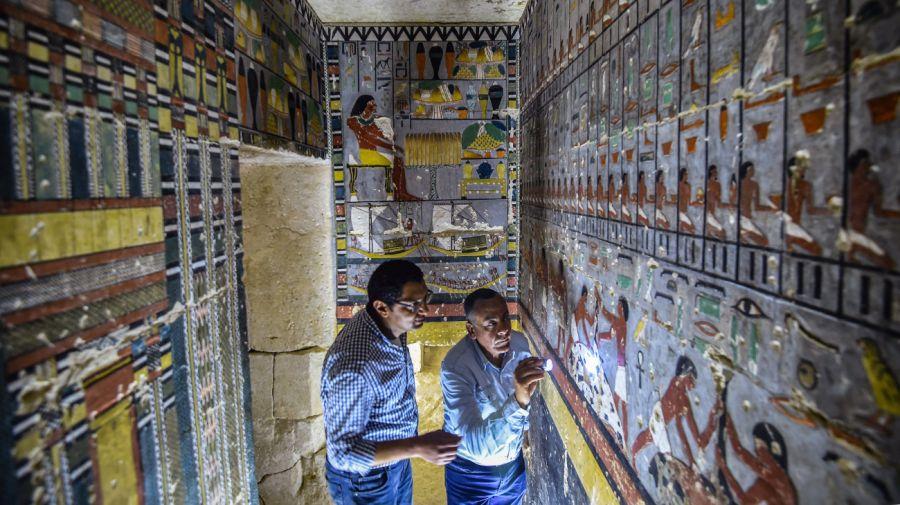 Egipto presentó una llamativa tumba de la V dinastía.