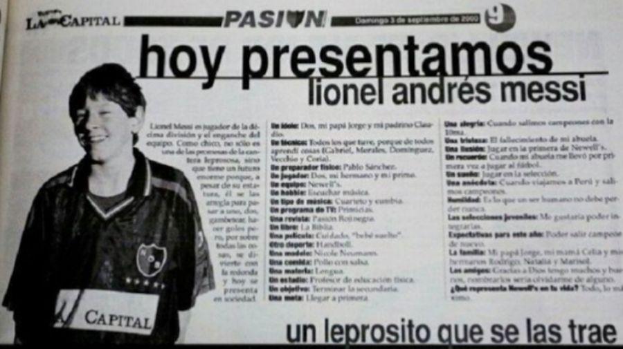 Leo Messi confesó quién era la modelo que le quitaba el sueño