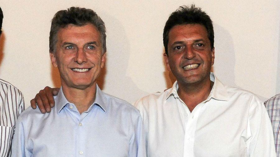 Macri y Massa, cuando todo eran sonrisas.