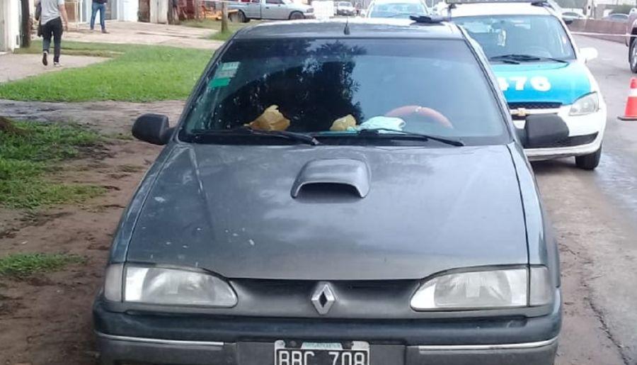 El auto donde viajaba Juan