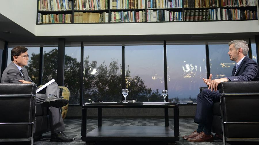 Marcos Peña, en la entrevista con Jorge Fontevecchia en Perfil.