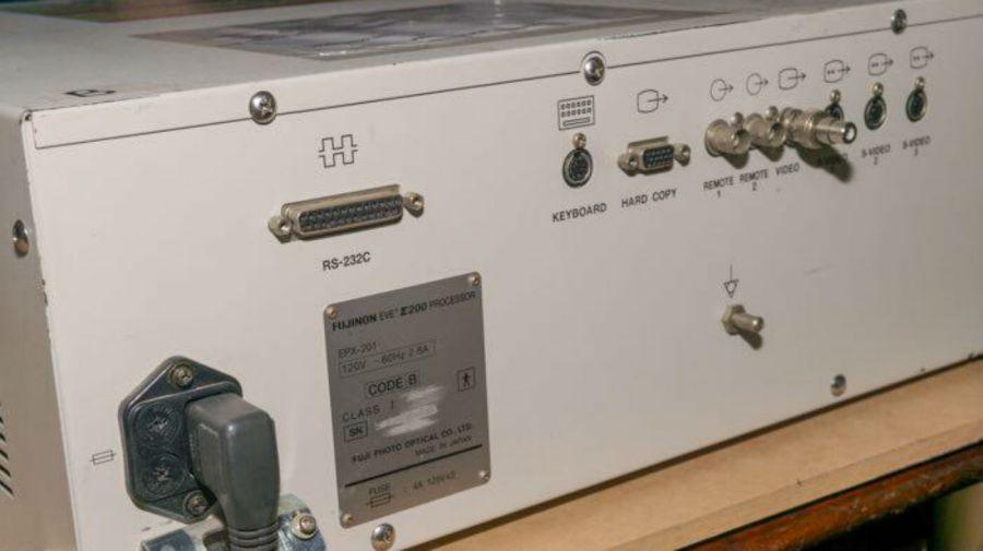 La placa identificatoria del aparato que fue peritado por dos expertos de la UBA.