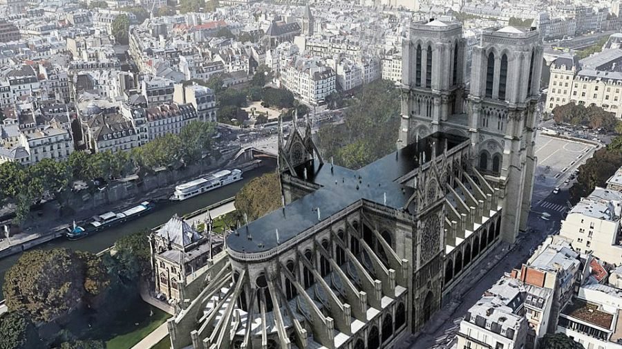 ideas reconstruccion catedral de notre dame