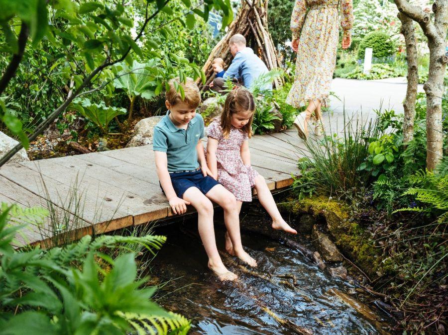 Las fotos más tiernas de Kate Middleton, el príncipe William y sus hijos disfrutando de la naturaleza