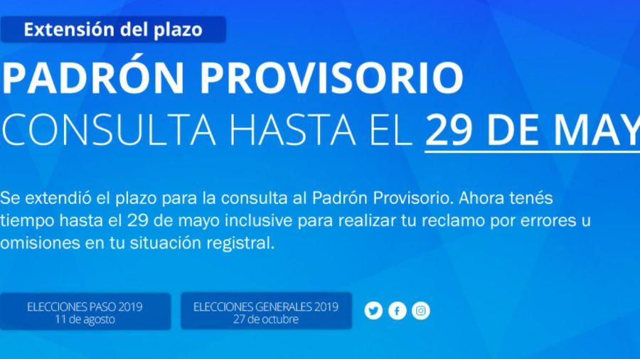 elecciones padron provisorio g_20190521