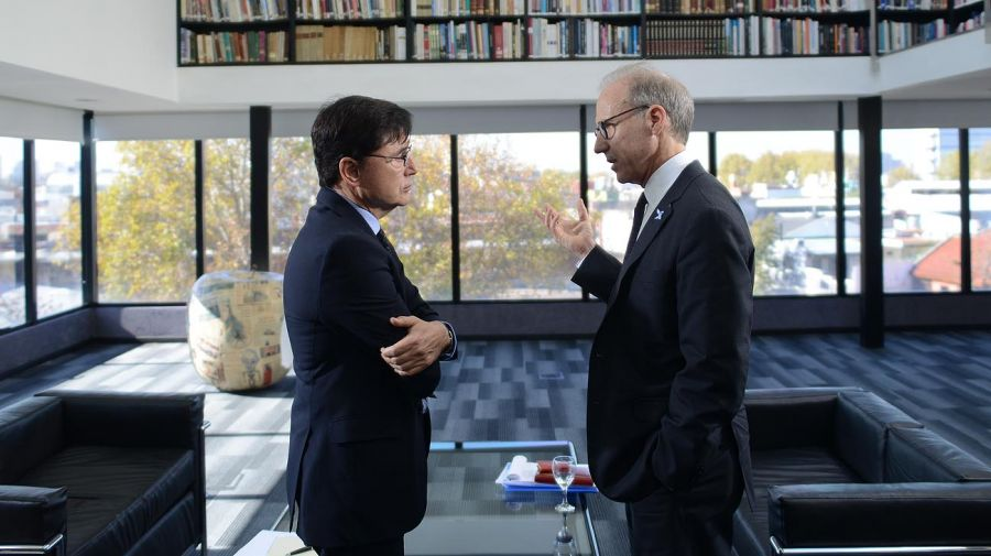 Carlos Rosenkrantz, presidente de la Corte Suprema, en la entrevista con Fontevecchia.