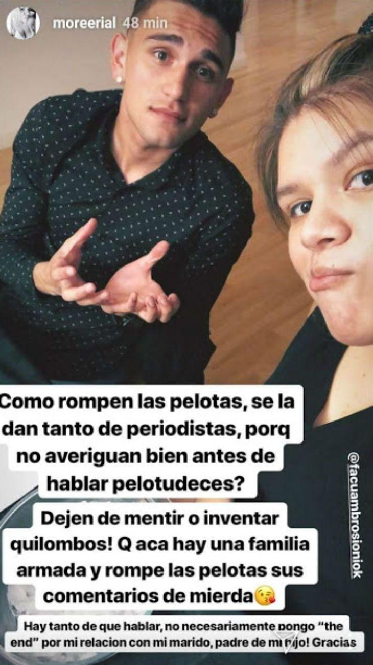Furioso descargo de Morena Rial, tras los rumores de separación