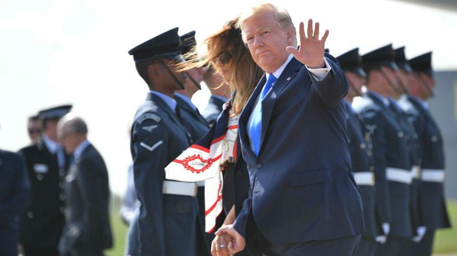 El presidente y la primera dama de Estados Unidos, Melania Trump, se alojan en la residencia del embajador estadounidense en Londres durante la visita.